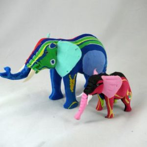 Recycled Thong carvings