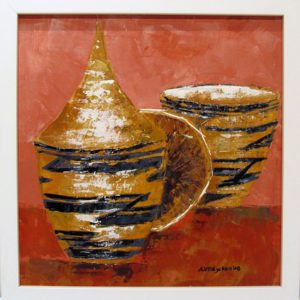 Open and Closed Baskets - Arlette Vandeneycken - 33x33