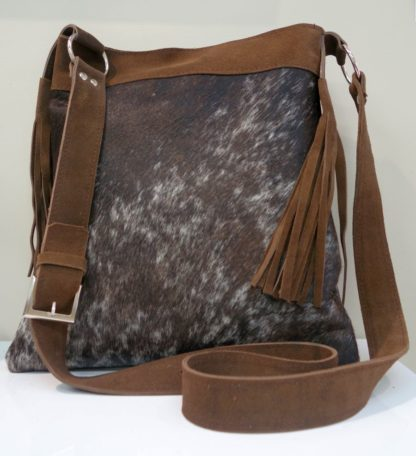 Leather bag - nguni leather from South Africa by leading textile and interior designer