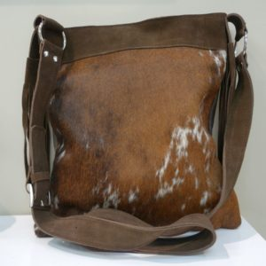 Nguni leather bag - distinct dappled pattern - designed and made in South Africa