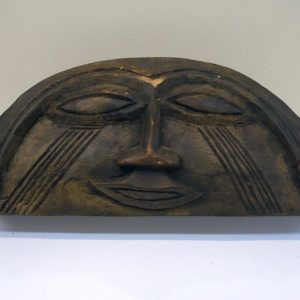 Vintage Kuba Box, beautifully carved featuring a smiling face. In good condition with only minor wear and tear. Held in private collection since 1991.