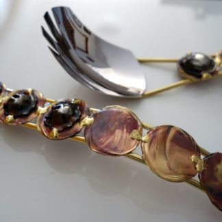 Server set 8 brass with copper detail - handmade in South Africa