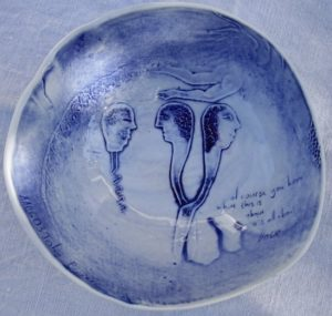 """South Africa Porcelain by John Bauer South Africa with inscription """"ofcourse you know what this is about. It is all about love. LOVE"""""""