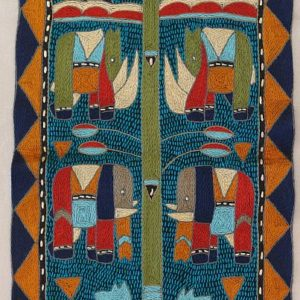 Wallhanging - embroidery by Kaross - a quality piece from South Africa featuring African animals and a tree